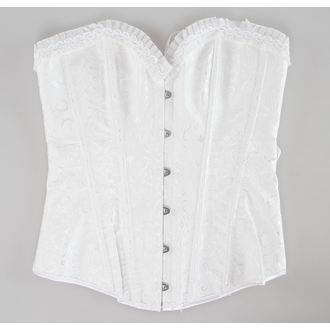 korzet dámsky DRACULA CLOTHING - White - DCL111