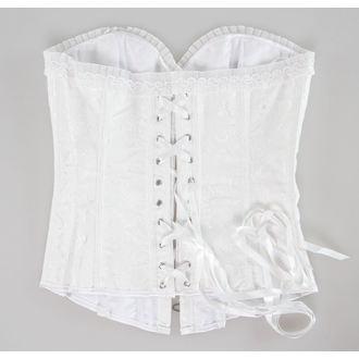 korzet dámsky DRACULA CLOTHING - White, DRACULA CLOTHING
