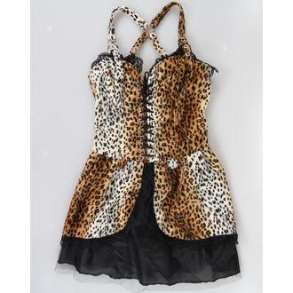 šaty dámske BLACK PIŠTOL - Punk - Leopard, BLACK PISTOL