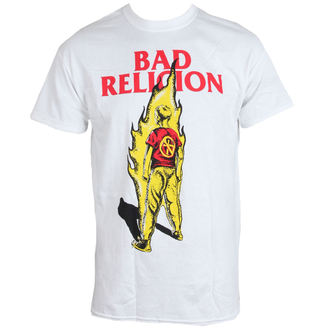 tričko pánske BAD RELIGION - Flame - WHITE - LIVE NATION, LIVE NATION, Bad Religion