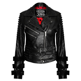 bunda dámska (křivák) KILLSTAR - Buckled Leather, KILLSTAR