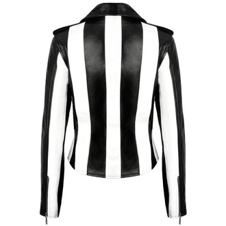 bunda dámska (křivák) KILLSTAR - Beetlejuice - Black/White