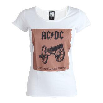 tričko dámske AC/DC - About To Rock - White - AMPLIFIED, AMPLIFIED, AC-DC