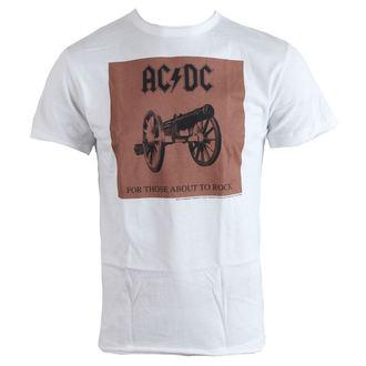 tričko pánske AC/DC - About To Rock - White - AMPLIFIED, AMPLIFIED, AC-DC