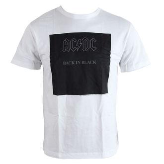 tričko pánske AC/DC - Back In Black - White - AMPLIFIED, AMPLIFIED, AC-DC