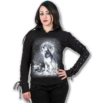 mikina dámska SPIRAL - White Wolf - Black, SPIRAL