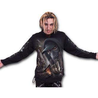 tričko pánske s dlhým rukávom SPIRAL - Street Reaper - Black, SPIRAL