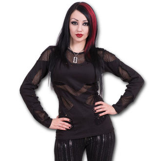 tričko dámske s dlhým rukávom SPIRAL - Gothic Rock - Black - P002F446