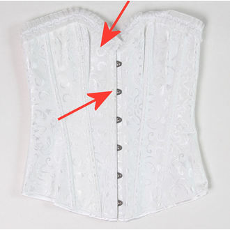 korzet dámsky DRACULA CLOTHG - White - POŠKODENÝ, DRACULA CLOTHING
