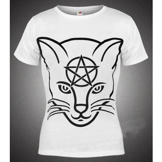 tričko dámske AMENQUEEN OF DARKNESS - Head Cat - WHT