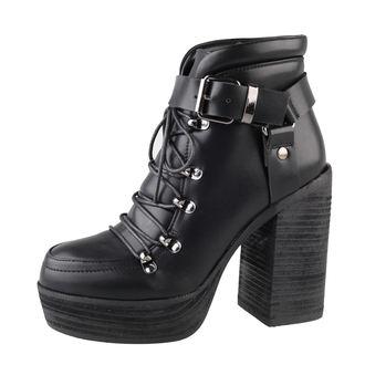 topánky dámske BANNED - Platform Buckle - Black, BANNED