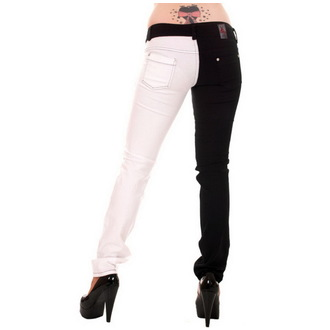 nohavice dámske 3RDAND56th - Split Leg - Black/White, 3RDAND56th