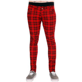 nohavice (unisex) 3RDAND56th - Checked - Black / Red, 3RDAND56th