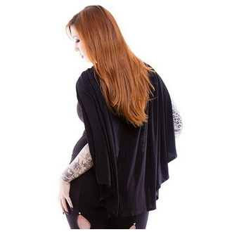 mikina (paplón) dámska NECESSARY EVIL - Gothic Dunne - Black, NECESSARY EVIL