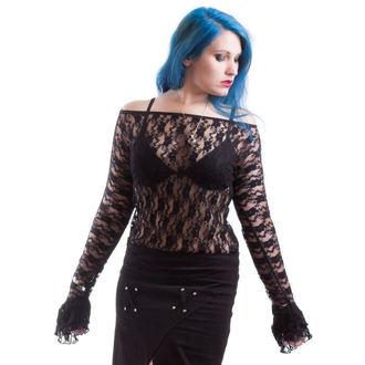 tričko dámske s dlhým rukávom NECESSARY EVIL - Ziva - Black, NECESSARY EVIL