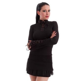 tričko dámske s dlhým rukávom NECESSARY EVIL - Milisha - Black, MILISHA