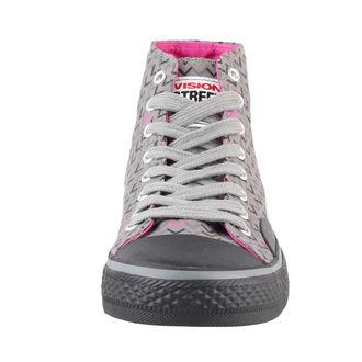 topánky dámske VISION - Canvas HI - Grey/Pink, VISION