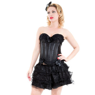 korzet a sukňa dámska HEARTS AND ROSES - Black Corset With Skirt, HEARTS AND ROSES