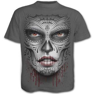 tričko pánske SPIRAL - Death Mask - Charcoal