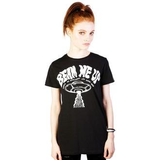 tričko dámske DISTURBIA - Beam Me Up - Black, DISTURBIA