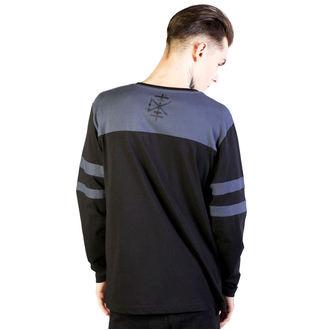 tričko pánske s dlhým rukávom DISTURBIA - Temple - Black/Grey, DISTURBIA