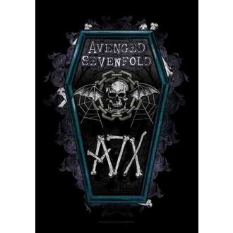 vlajka Avenged Sevenfold - Coffin, HEART ROCK, Avenged Sevenfold