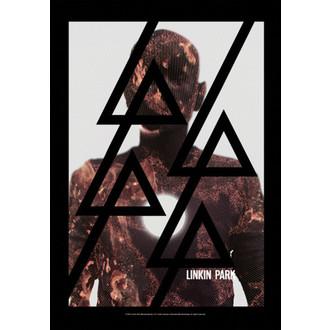 vlajka Linkin Park - Living - Burn It, HEART ROCK, Linkin Park