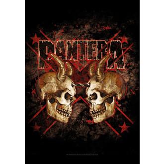 vlajka Pantera - Double Skull, HEART ROCK, Pantera