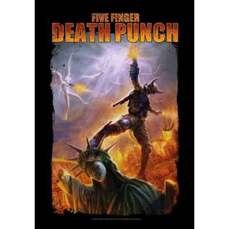 vlajka Five Finger Death Punch - Battle Of The God, HEART ROCK, Five Finger Death Punch
