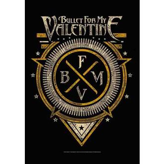 vlajka Bullet For My Valentine - Emblem, HEART ROCK, Bullet For my Valentine