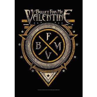 vlajka Bullet For My Valentine - Emblem, HEART ROCK, Bullet For my Valentine