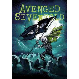 vlajka Avenged Sevenfold - Cemetary, HEART ROCK, Avenged Sevenfold