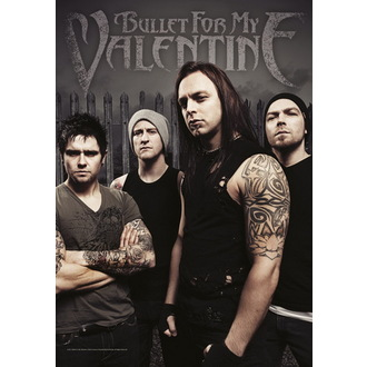 vlajka Bullet For My Valentine - Band Photo - HFL1072