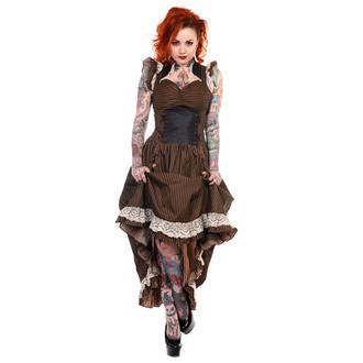 šaty dámske BANNED - Brown Stripe, BANNED