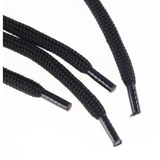 šnúrky 6 dierkové - Black, STEEL