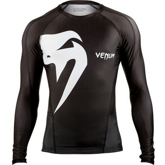 tričko pánske s dlhým rukávom (termo) VENUM - Giant Rashguard - Black, VENUM