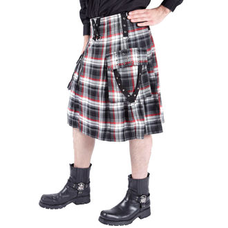 kilt pánsky DEAD THREADS - Black/White/Red, DEAD THREADS