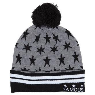čiapka FAMOUS STARS & STRAPS - Lunar Pom - Grey, FAMOUS STARS & STRAPS