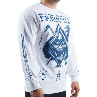 tričko pánske s dlhým rukávom FAMOUS STARS & STRAPS - White, FAMOUS STARS & STRAPS