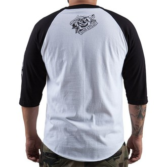 tričko pánske s 3/4 rukávom FAMOUS STARS & STRAPS - The Keepers - White Black, FAMOUS STARS & STRAPS