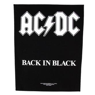 nášivka veľká AC/DC - Back In Black - RAZAMATAZ, RAZAMATAZ, AC-DC
