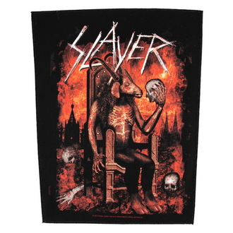 nášivka veľká Slayer - Devil On Throne - RAZAMATAZ, RAZAMATAZ, Slayer