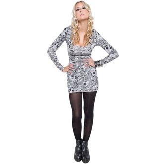šaty dámske IRON FIST - Sugar Coma - White, IRON FIST