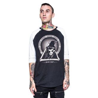 tričko pánske s 3/4 rukávom IRON FIST - Throne - Black/White, IRON FIST