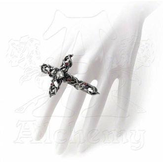 prsteň ALCHEMY GOTHIC - Thorn Cross Handspan, ALCHEMY GOTHIC
