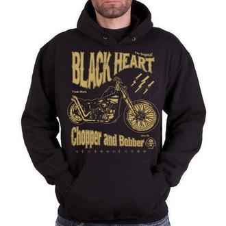 mikina pánska BLACK HEART - Chopper And Bobber - Black, BLACK HEART