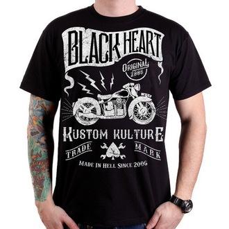 tričko pánske BLACK HEART - Vintage Bike - Black - BH075