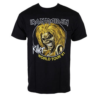 tričko pánske Iron Maiden - Killers World Tour 81 - Blk - ROCK OFF, ROCK OFF, Iron Maiden