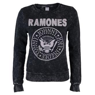 mikina dámska Ramones - Macramé Sweat - BLK - AMPLIFIED, AMPLIFIED, Ramones