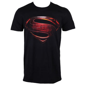 tričko pánske Superman - Man Of Steel - Black - INDIEGO, INDIEGO